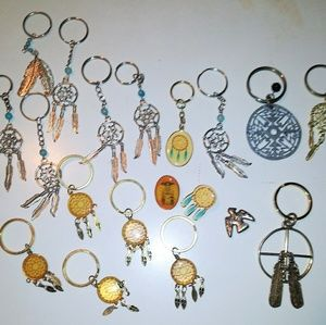 Native American Keychains Lot
